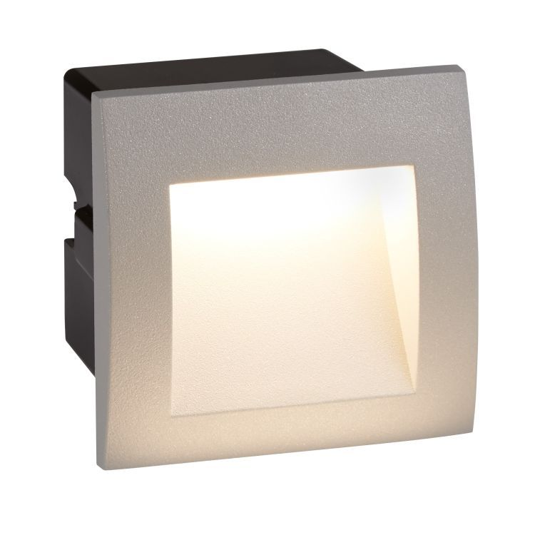 Ankle LED Indoor Outdoor Recessed Square Grey