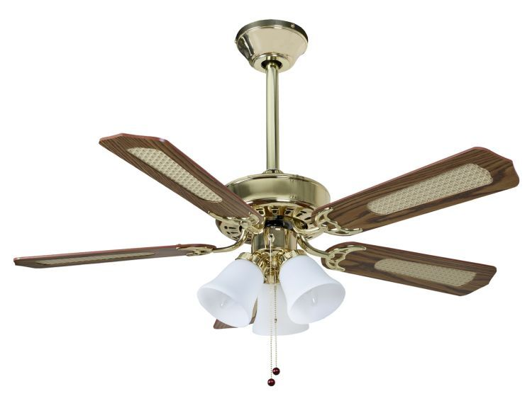 Belaire Combi 42inch Ceiling Fan with Light Polished Brass