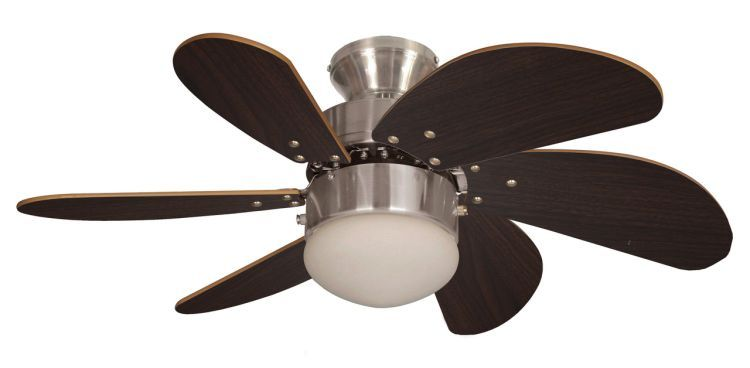 Atlanta 30inch Ceiling Fan with Light Brushed Nickel