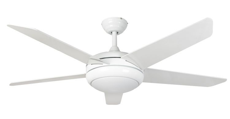 Neptune 54inch Ceiling Fan with Light White
