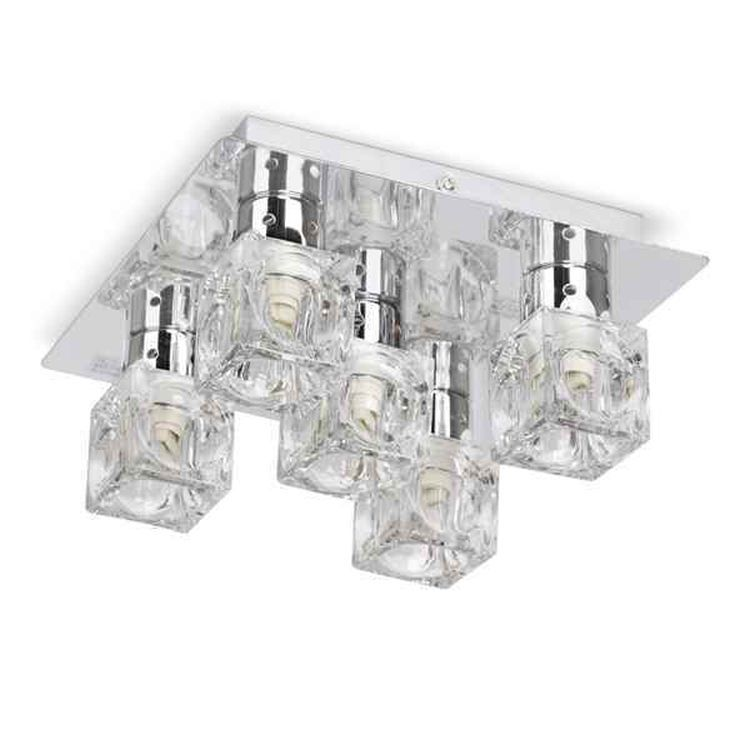Ritz 5 Way Ceiling Fitting Ice Cube Shades