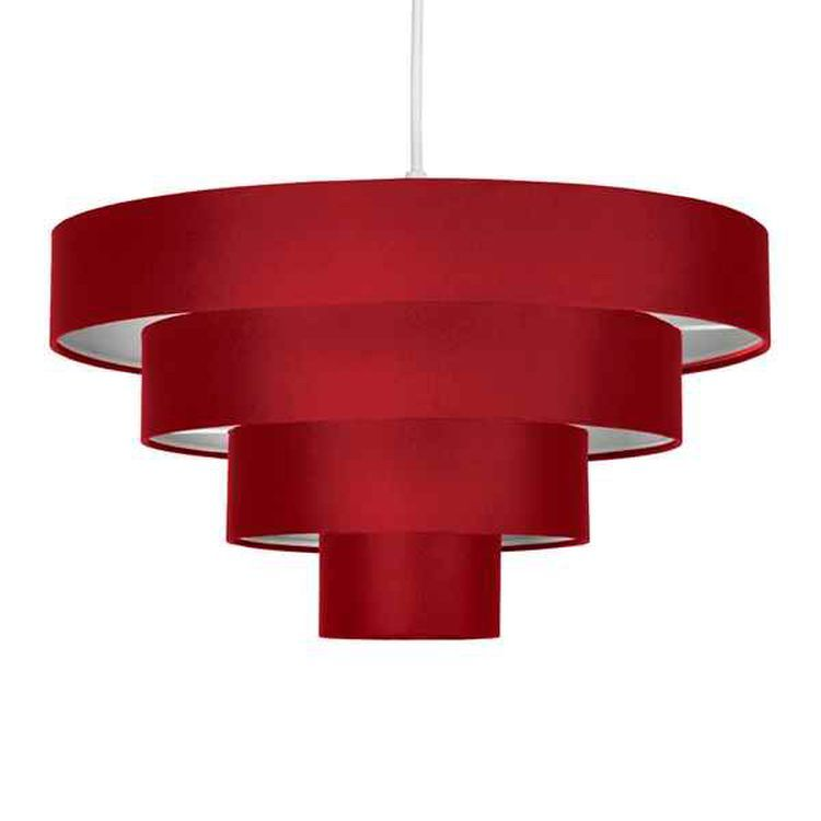 Nevada 4 Tiered Pendant Red