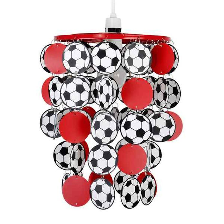 Football Droplet Pendant Shade Red