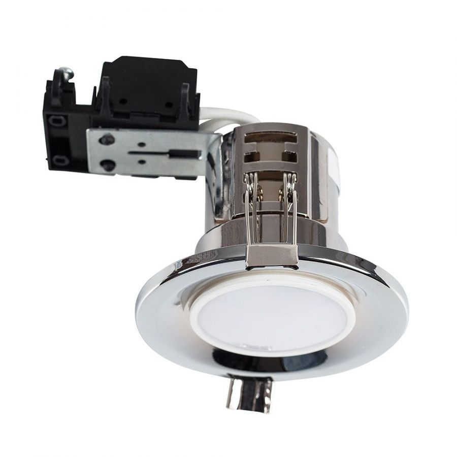 Fire Rated GU10 Downlight Chrome