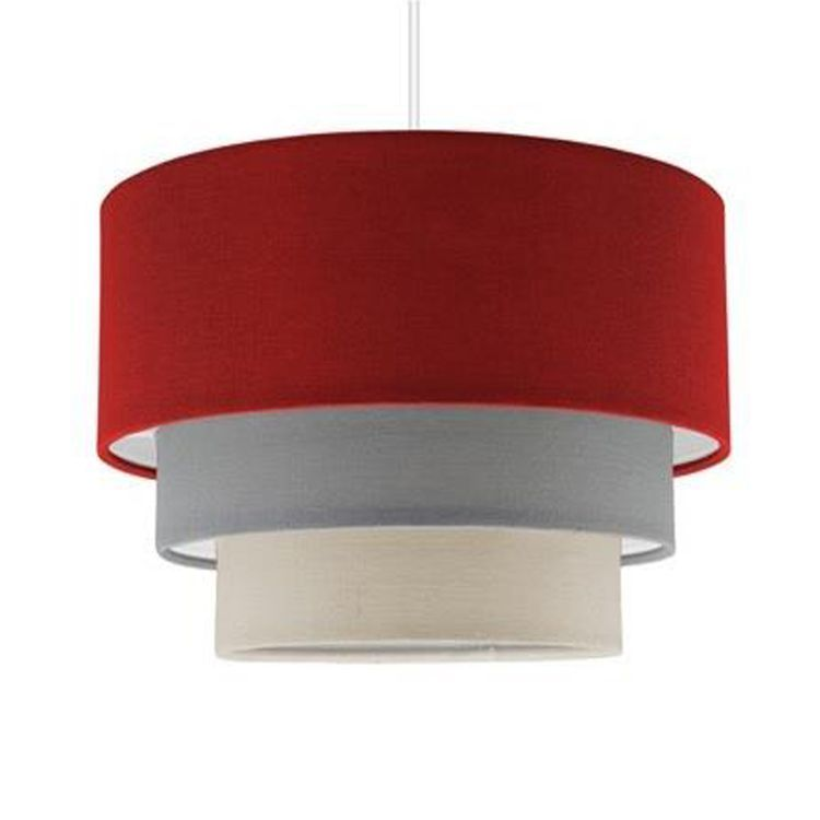 Aztec Pyramid RED 3 Tiered Pendant Shade