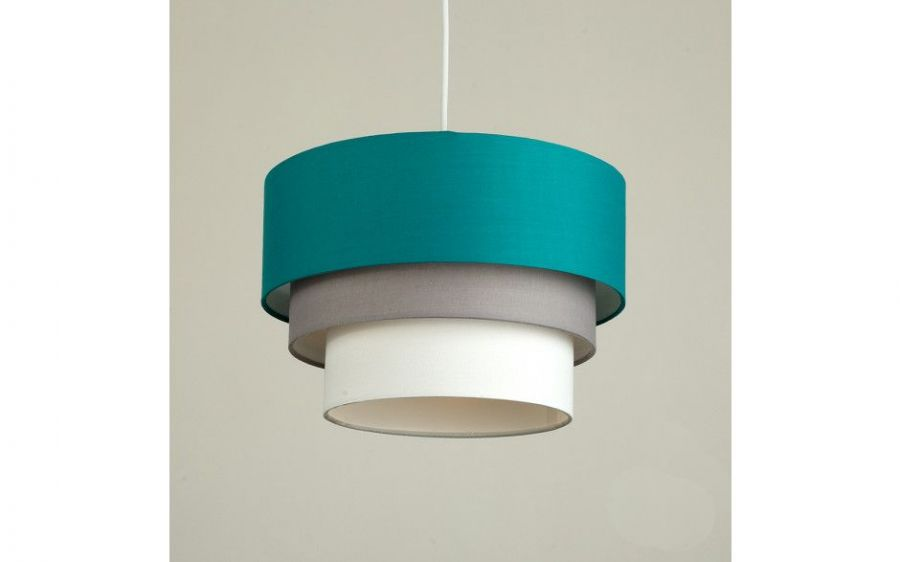 Aztec Pyramid TEAL 3 Tiered Pendant Shade