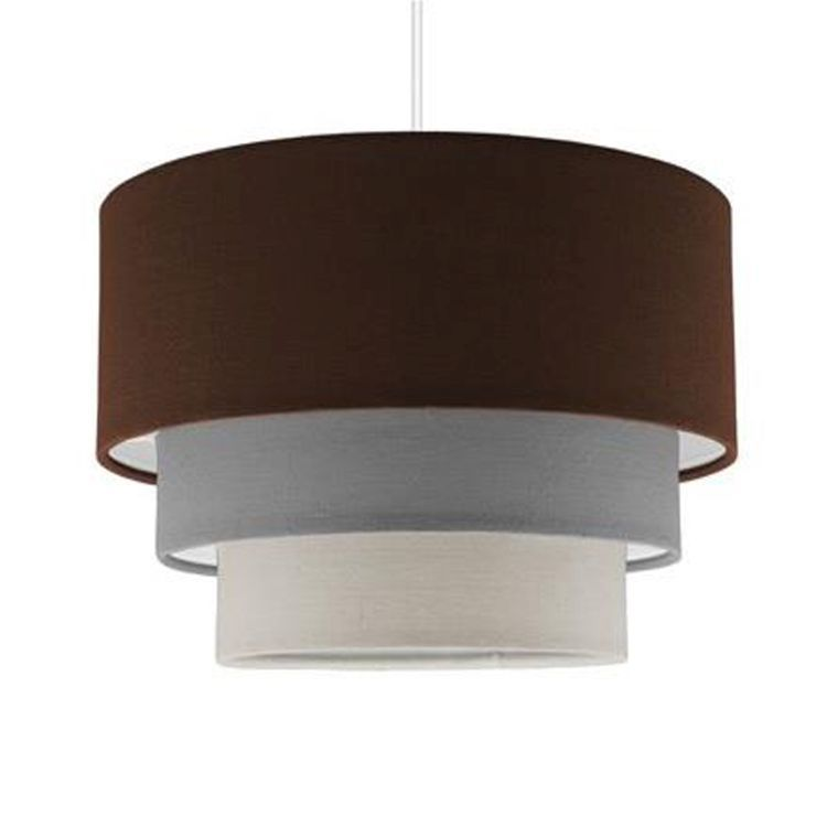 Aztec Pyramid BROWN 3 Tiered Pendant Shade
