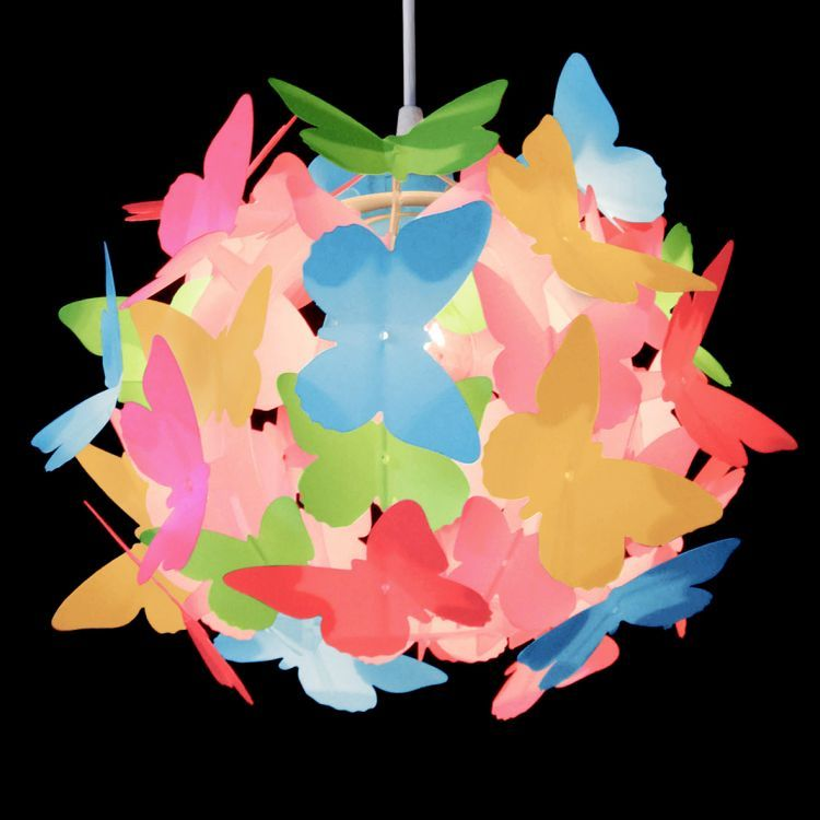 Butterfly Ball Pendant Shade Multi Coloured