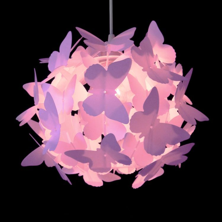 Butterfly Ball Pendant Shade Pink
