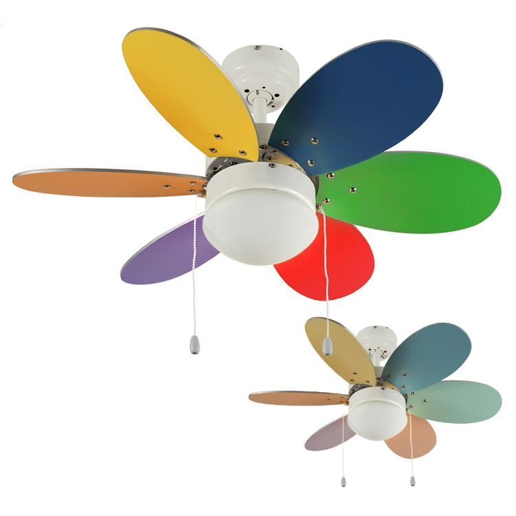 """Candy Multi Coloured 30"""" Celling FanGlass"""