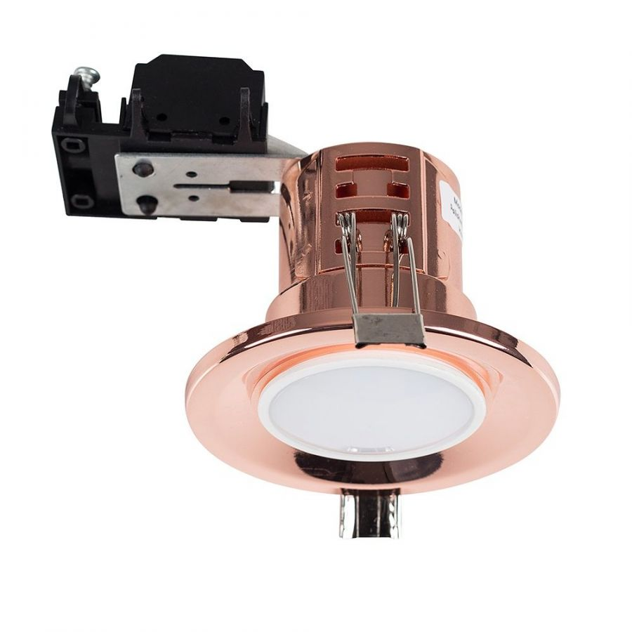 Fire Rated GU10 Downlight Polished Copper