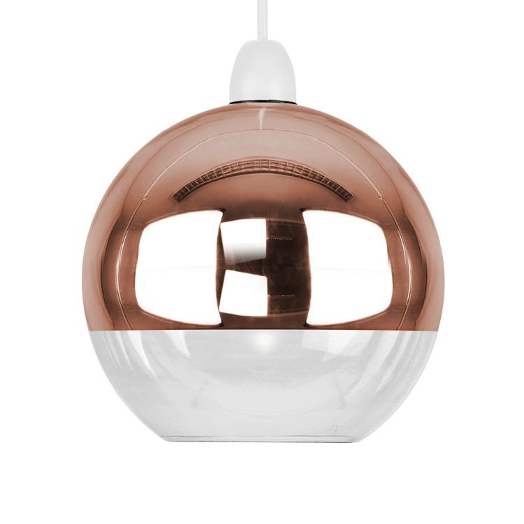 Large Daelim Copper Dome Glass Shade