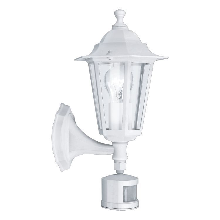 LATERNA 5 Outdoor Up Wall Lantern with Sensor White