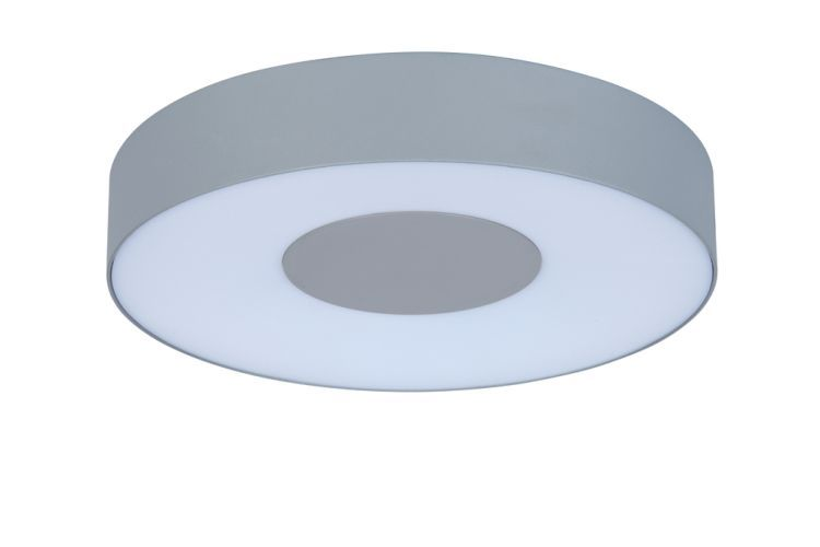 UBLO Outdoor LED Wall/Ceiling Light Matt Silver Large Round