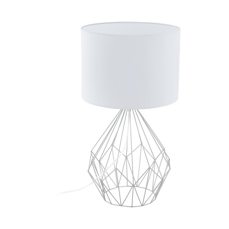 PEDREGAL 1 Table Lamp with White Shade Chrome