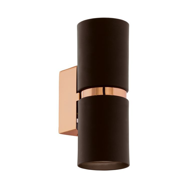 PASSA LED Up / Down Wall Light Brown, Copper 95371