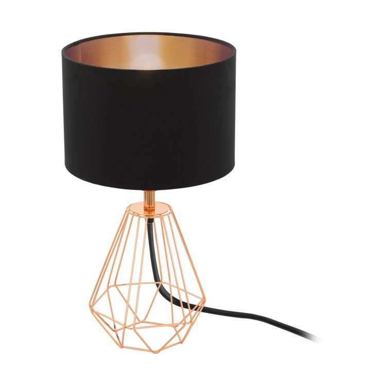 CARLTON 2 Table Lamp with Black Shade Copper