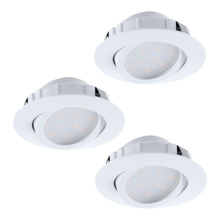 PINEDA 3 x LED Recessed Downlight White 95851