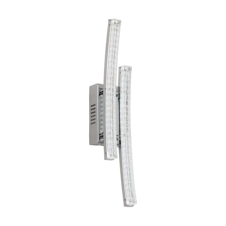 PERTINI 2-Light LED Wall Light Chrome