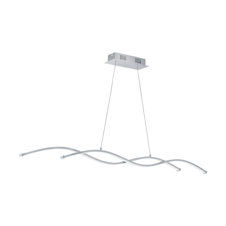 LASANA 2 2-Light LED Pendant Ceiling Light Chrome 96104