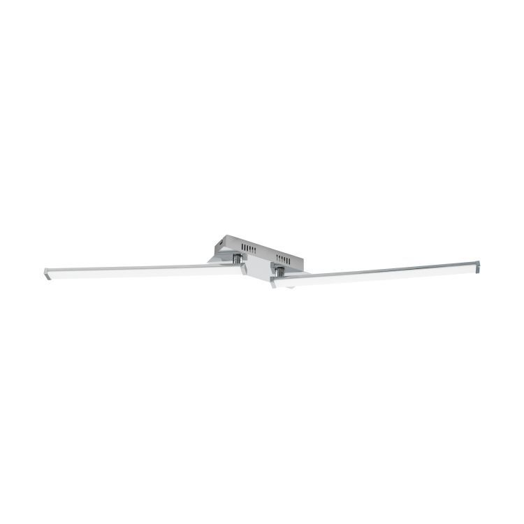 LASANA 2 2-Light LED Ceiling Light Chrome