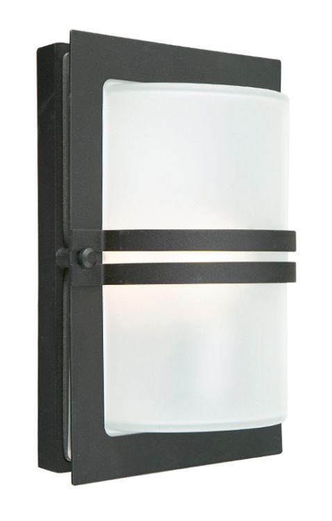 Basel Wall Lantern Black Frosted
