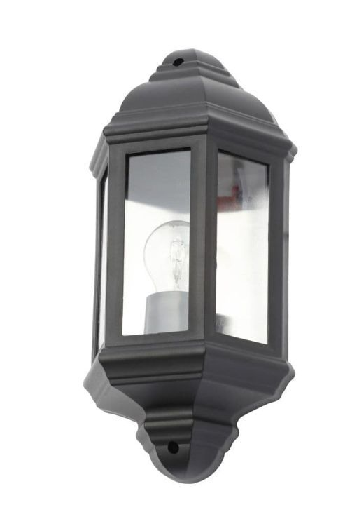 Athena Wall Lantern Black