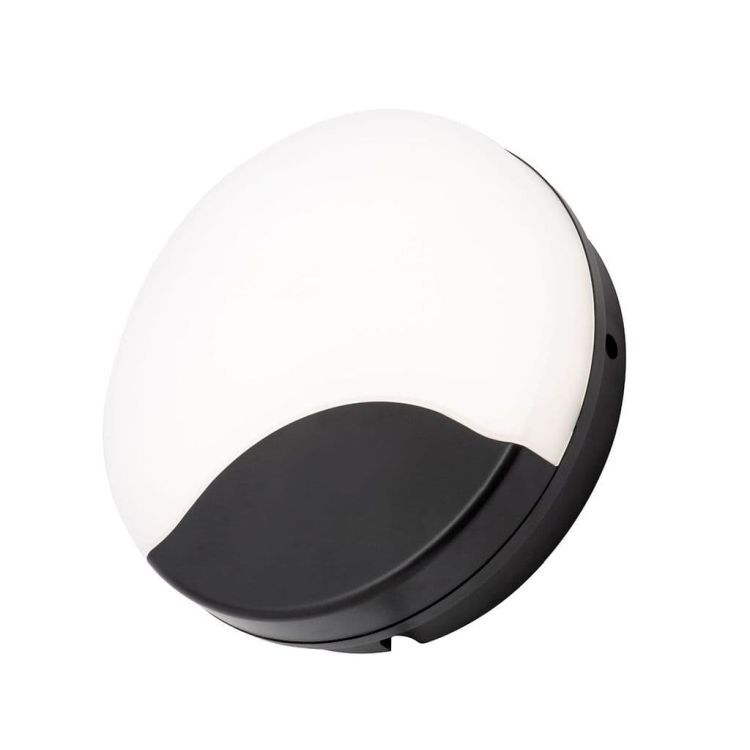 Turus Round Bulkhead in Black & Opal Finish