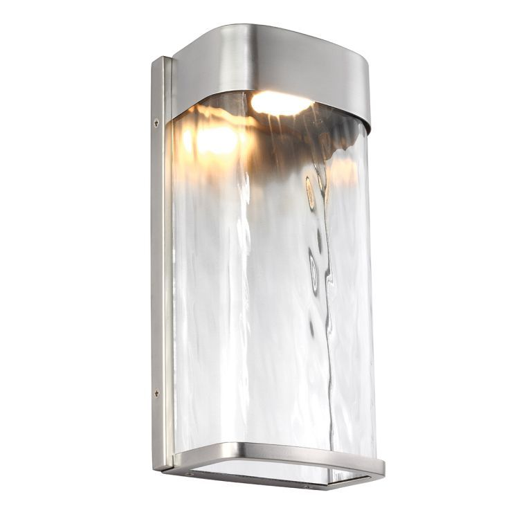 Bennie 1-Light Large Outdoor LED Wall Light - Painted Brushed Steel