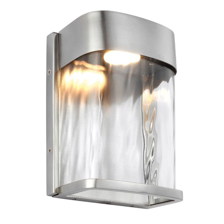 Bennie 1-Light Small Outdoor LED Wall Light - Painted Brushed Steel