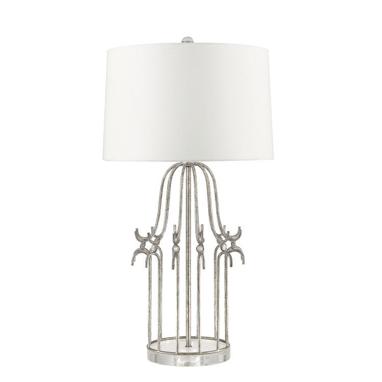 Stella 1-Light Table Lamp - Distressed Silver