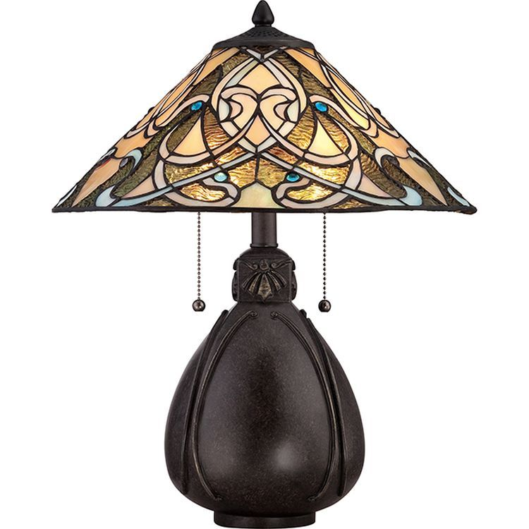 India 2-Light Table Lamp Imperial Bronze
