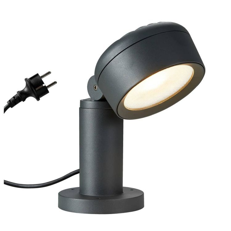 MYDLANA Pole Outdoor floor stand anthracite 3000/4000K IP65 dimmable