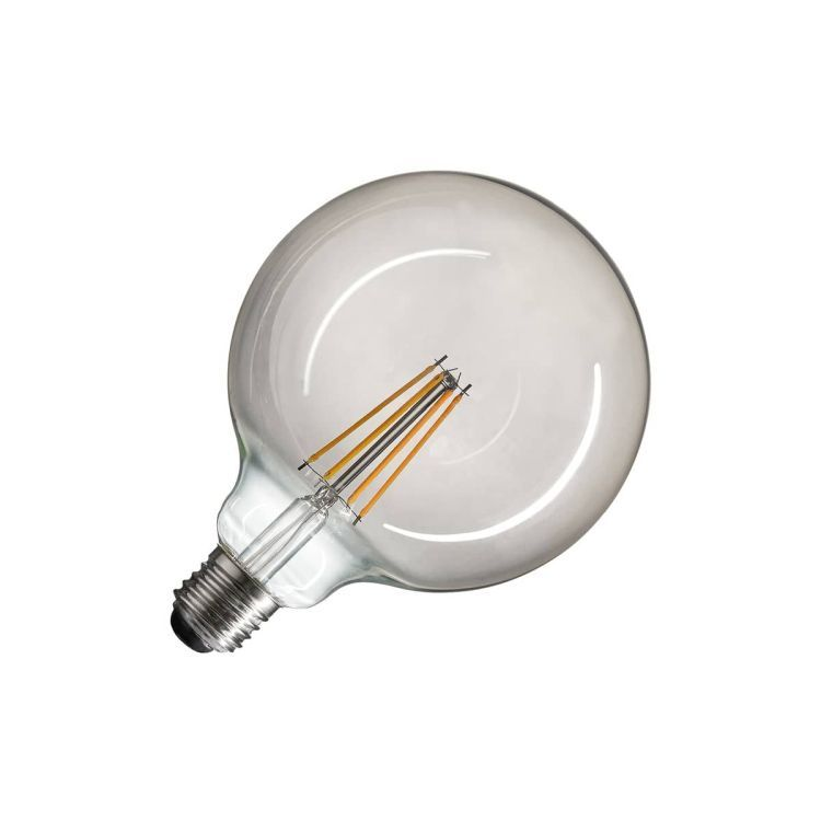LED lamp, G125, E27, 2700K, 720lm, 280°, dimmable, smoked glass
