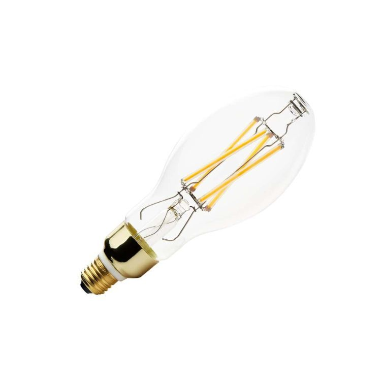 LED lamp, oval, E27, 2700K, 1650lm, 280°, dimmable
