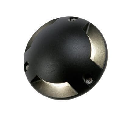 Scout Surface Mount Ground 3 Light in Black Finish